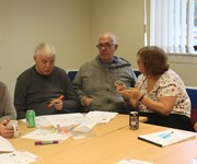 North Lanarkshire TAG (The Advisory Group) discussing survey questions.
